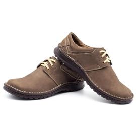 Joker Men's leather shoes 229 olive multicolored khaki 6