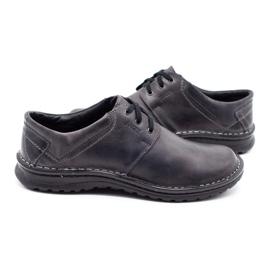 Joker Men's leather shoes 229 gray grey 6