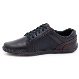 Mario Pala Men's leather shoes 616 black 9