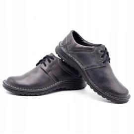 Joker Men's leather shoes 229 gray grey 7