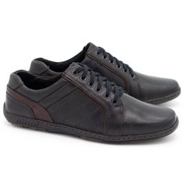 Mario Pala Men's leather shoes 616 black 2