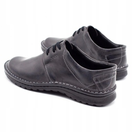 Joker Men's leather shoes 229 gray grey 8