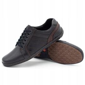 Mario Pala Men's leather shoes 616 black 3