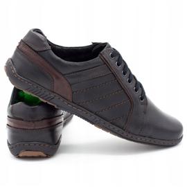 Mario Pala Men's leather shoes 616 black 4