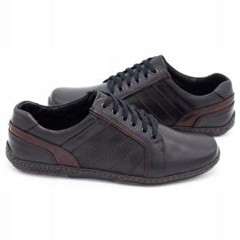 Mario Pala Men's leather shoes 616 black 5