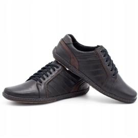 Mario Pala Men's leather shoes 616 black 6