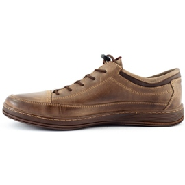 Polbut Men's leather casual shoes K22 brown 2