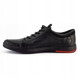 Polbut Black men's casual leather shoes K22 7