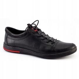 Polbut Black men's casual leather shoes K22 8
