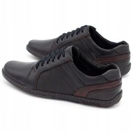 Mario Pala Men's leather shoes 616 black 1