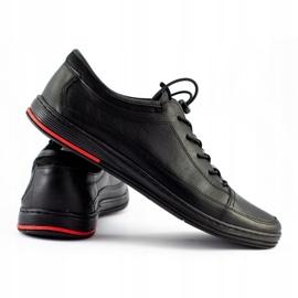 Polbut Black men's casual leather shoes K22 2