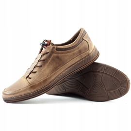 Polbut Men's leather casual shoes K22 brown 4