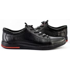Polbut Black men's casual leather shoes K22 3