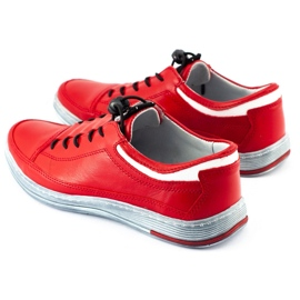 Polbut Men's leather casual shoes K22 red 1