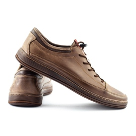 Polbut Men's leather casual shoes K22 brown 5
