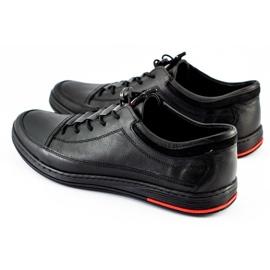 Polbut Black men's casual leather shoes K22 4