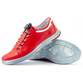 Polbut Men's leather casual shoes K22 red 5