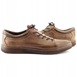 Polbut Men's leather casual shoes K22 brown 6