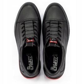Polbut Black men's casual leather shoes K22 5