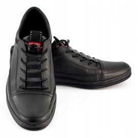 Polbut Black men's casual leather shoes K22 6