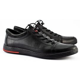 Polbut Black men's casual leather shoes K22 9
