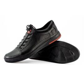 Polbut Black men's casual leather shoes K22 1