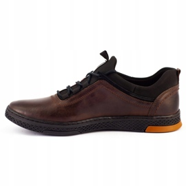 Polbut K24 brown casual leather men's shoes 7