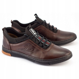 Polbut K24 brown casual leather men's shoes 1