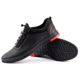 Polbut Black casual leather men's shoes K24 1