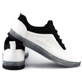 Polbut Men's leather casual shoes K24 white 3