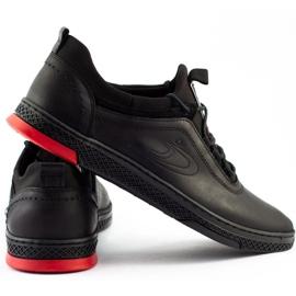 Polbut Black casual leather men's shoes K24 2