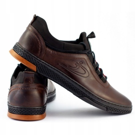 Polbut K24 brown casual leather men's shoes 3