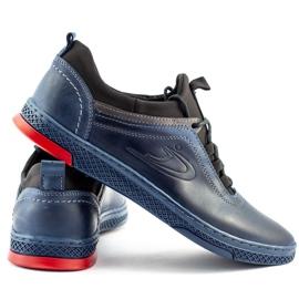 Polbut Men's casual leather K24 navy blue shoes 2