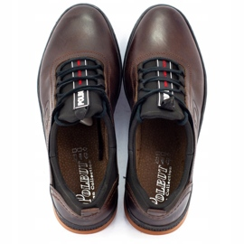 Polbut K24 brown casual leather men's shoes 5