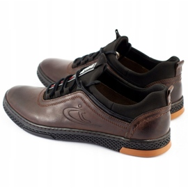 Polbut K24 brown casual leather men's shoes 6