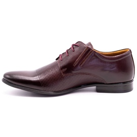 Olivier Burgundy formal shoes 482 red multicolored 1