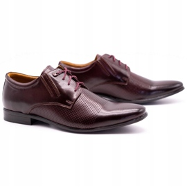 Olivier Burgundy formal shoes 482 red multicolored 2