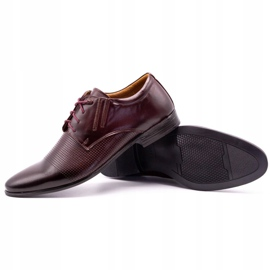 Olivier Burgundy formal shoes 482 red multicolored 3