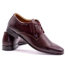 Olivier Burgundy formal shoes 482 red multicolored 4