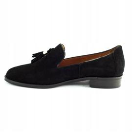 Lizard Black loafers 04642 for women 1