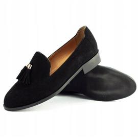 Lizard Black loafers 04642 for women 3