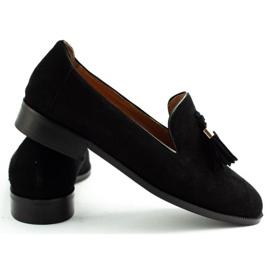 Lizard Black loafers 04642 for women 4