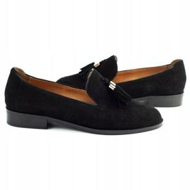 Lizard Black loafers 04642 for women 5