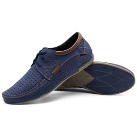 Mario Pala Men's openwork shoes 563 navy blue 4