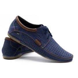 Mario Pala Men's openwork shoes 563 navy blue 5