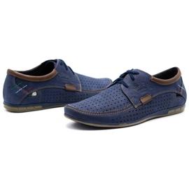 Mario Pala Men's openwork shoes 563 navy blue 6