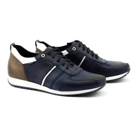 Polbut Men's shoes C21 navy blue 3