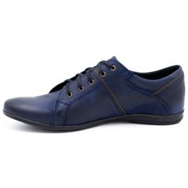 Polbut Men's shoes C25 navy blue 1