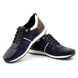 Polbut Men's shoes C21 navy blue 4