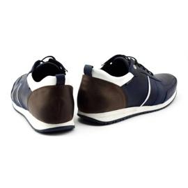 Polbut Men's shoes C21 navy blue 5